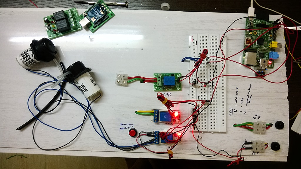 Hydroponic controller system controlled by Raspberry Pi | Sony Arouje