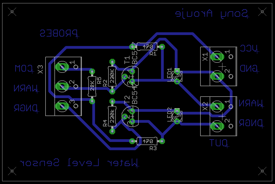 Water Level Sensor for my Aeroponic– First Experiment in PCB